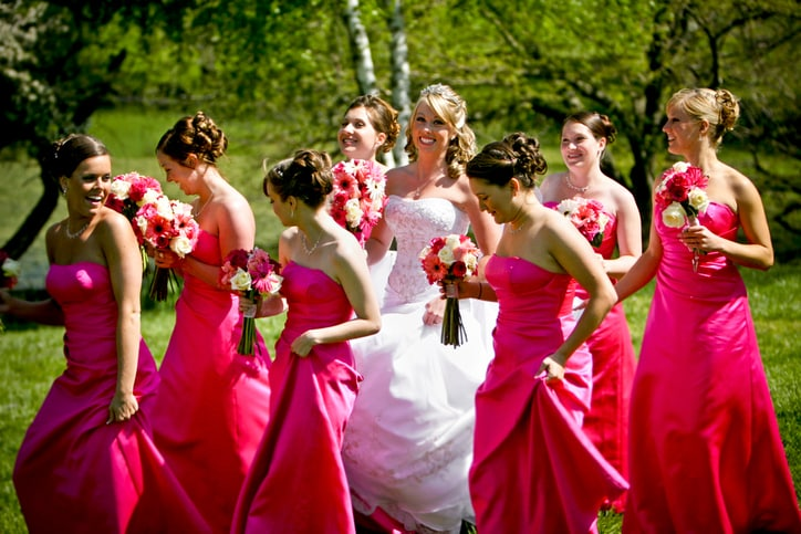 Bold Bridesmaid Dresses